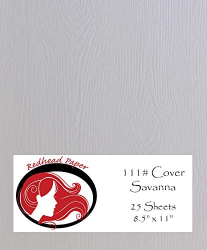 White Wood Grain Texture Specialty Cardstock Paper (8.5-x-11-inch) 25 Sheets -