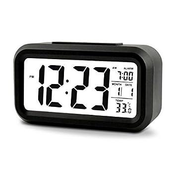 5,3 LED Digital reloj despertador iluminación Despertador Digital despertador de viaje con indicador