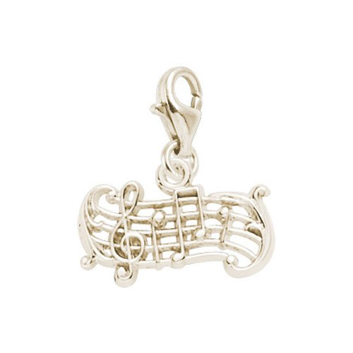 Rembrandt Charms Music Charm with Lobster Clasp, 14k Yellow Gold