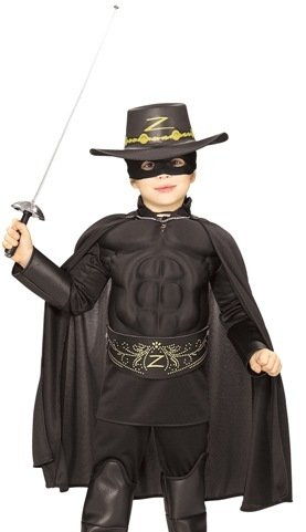 Kids Halloween NEW Boy Zorro Childrens Costume Boys Medium (5-7 years) by Rubie's Costume Co