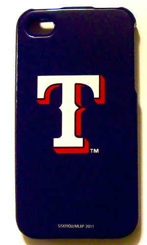 Texas Rangers MLB Faceplate Hard Protector Snap On Case Cover for for Apple iPhone 4 4S, fits Sprint, Verizon, AT&T Wireless