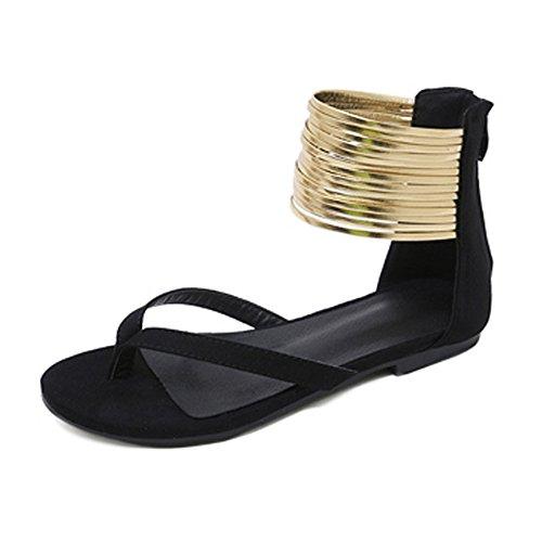 Lady Taille à Sandales pour Summer C Flat Écolières Sandales Plateforme Grande wpndqIqHg