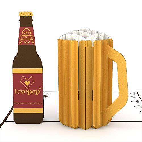 Lovepop Beer Classic Pop Up Card, 3D Card, Father's Day Card, Card for Dad, Birthday Card, Greeting Card