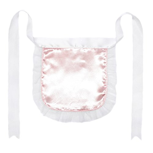 [Light Pink Nurse or Maid Apron with White Lace Ruffles ~ Costume Accessory] (Nurse Costumes For Teens)