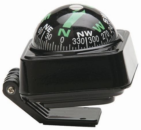 Sumex - Bussola da cruscotto, colore: nero