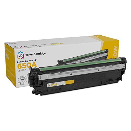 LD Remanufactured Toner Cartridge Replacement for HP 650A CE272A (Yellow)