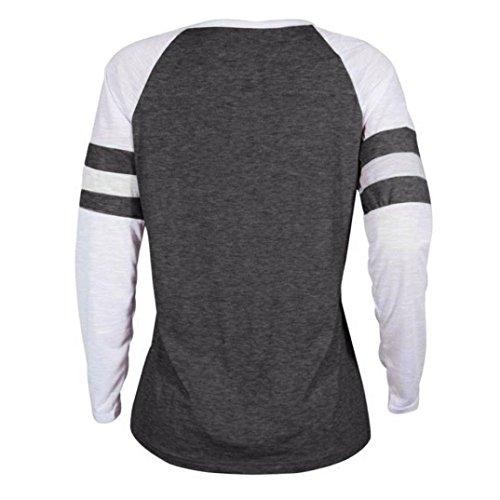Xinan Sweatshirt Hoodie Top Damen Hemd Langarm T-Shirt Lange Ärmel Pullover  Bluse Dunkelgrau tvZxM293H ... 0949cf0b49