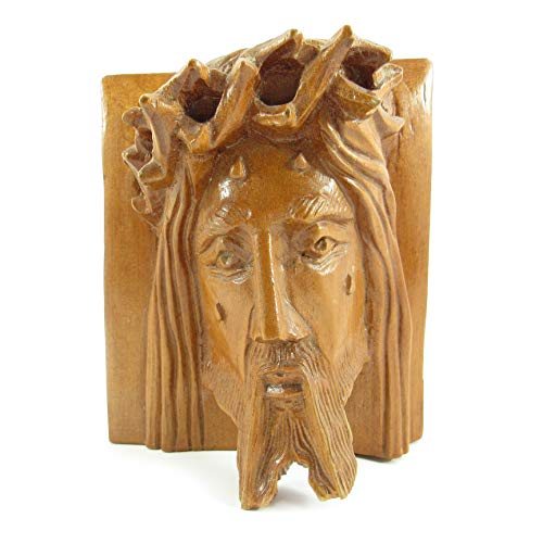Machu Picchu Store Hand Carved Jesus Christ FACE, Wood Sculpture of Jesus by Martin PEÑA 904052