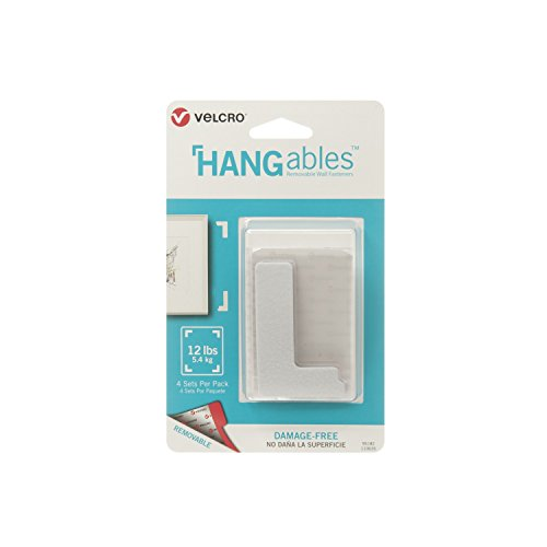 - VELCRO Brand HANGables | Removable Wall Fasteners | Decorate Without Damaging Your Walls | Hang frames, Create Wall Collages | 4 Sets per Pack | Corners