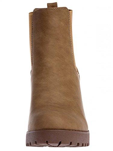 Platform SBO045 CASPAR Vintage Womens Ankle Camel Boots O08qR8x