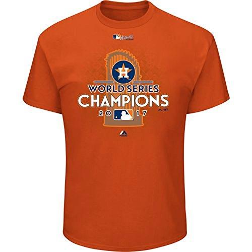 Majestic Mens Astros World Series Champions Locker Room T-Shirt (Orange, 2XL)