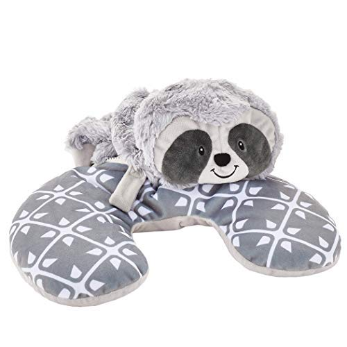 Animal Adventure   Popovers Travel Pillow   Gray Sloth   Transforms from Character to Travel Pillow   13