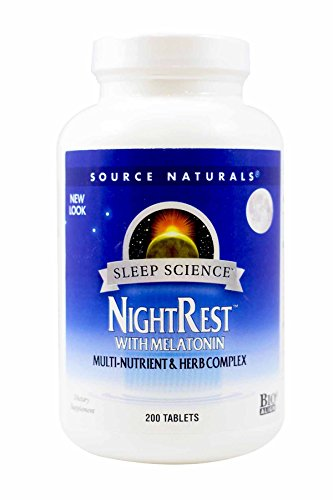 SOURCE NATURALS Sleep Science Night Rest Tablet, 200 Count