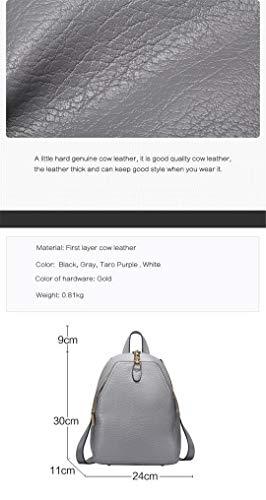 de gray vache en en cuir dos 100 féminin designer cuir A véritable de femmes sac mode sacs dos 6dTd4Zwq