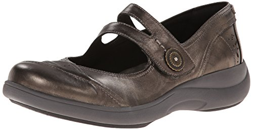 Aravon Women's Revshow Mary Jane Flat,Pewter,8 2A US