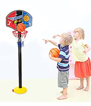 14f09ca0c87 Zipom Basketball Hoop Kids Basketball Stand with Net and Ball Outdoor  IndoorAdjustable Sport Game Play Set