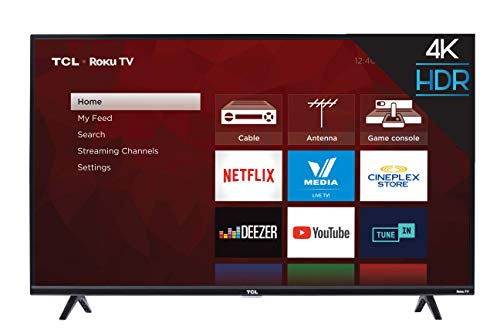 TCL 43S425-CA 4K Ultra HD Smart LED Television (2019), 43
