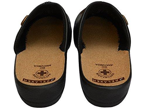 Relaxen - Zapatillas de estar por casa para mujer beige beige negro