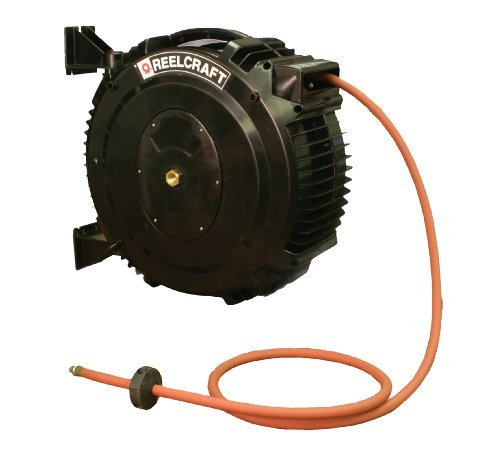 Reelcraft Sha3850 Olp 1 2 Inch By 50 Feet Spring Driven Pvc Hose Reel For Hot Water Wash By Reelcraft