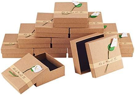 NBEADS Caja de Papel, 12 Paquetes 9x9x3 cm Caja de cartón Cuadrada ...