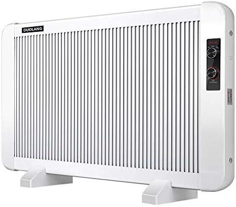 DUOLANG電気1500Wラジエータースペースヒーター、家庭用、オフィス用、その他の屋内スペース用の壁掛け型および自立型のポータブルスリムステイル対流パネルヒーター、DL-15、ホワイト