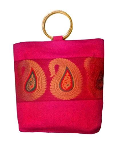 Bhamini - Bolso mochila  para mujer rosa