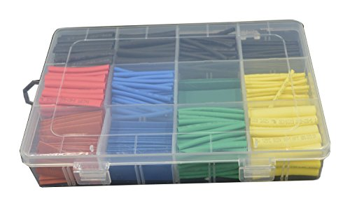 URBEST® 530 Pcs 2:1 Heat Shrink Tubing Tube - 1 Shrink Tubing