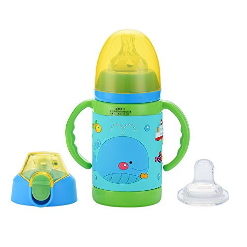 TENTA Kitchen Vacuum Insulated Stainless Steel 9 Ounce Sippy