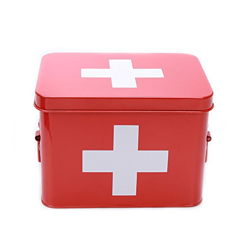 hot-sale-x120-metal-red-with-white-cross-medicine-storage-medical-box-container-with-handle-red