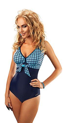 Blu da Bagno con da Costume Elegante Donna Navy Fiocco Blu Simpatico HBfqZgx7xw