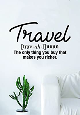 Travel Definition Quote Wall Decal Sticker Bedroom Living Room Art Vinyl Beautiful Inspirational Wanderlust Adventure Teen