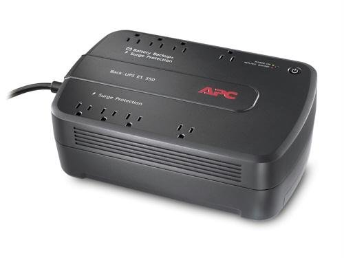 APC Back-UPS ES 8 Outlet 550VA 120V Half Load 13.5 minutes 165 Watts Typical Backup Time
