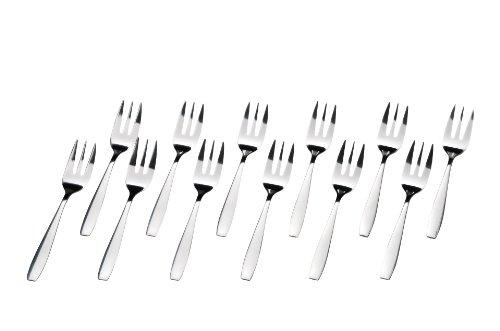 GRÄWE® 12 Stück Kuchengabeln Edelstahl, Serie Königstein