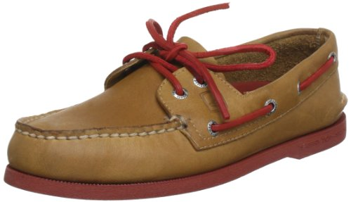 Sperry 271692, Boots homme Multicolore - Marron/Rouge Fluo (Sahara/Neon Red Normal))