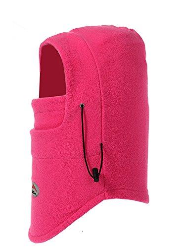 Lenikis Winter Versatile Neck Warm Fleece Ski Face Mask Balaclavas Hat Grey H4546C3