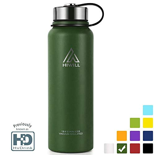 Stainless Steel Vacuum Insulated Water Bottle, Cold for 24 Hours Hot for 12 Hours, 21 OZ - 50 OZ Double Wall Thermos Flask, Travel Sports Leak Proof Drinking Bottle with Metal Strainer, BPA Free