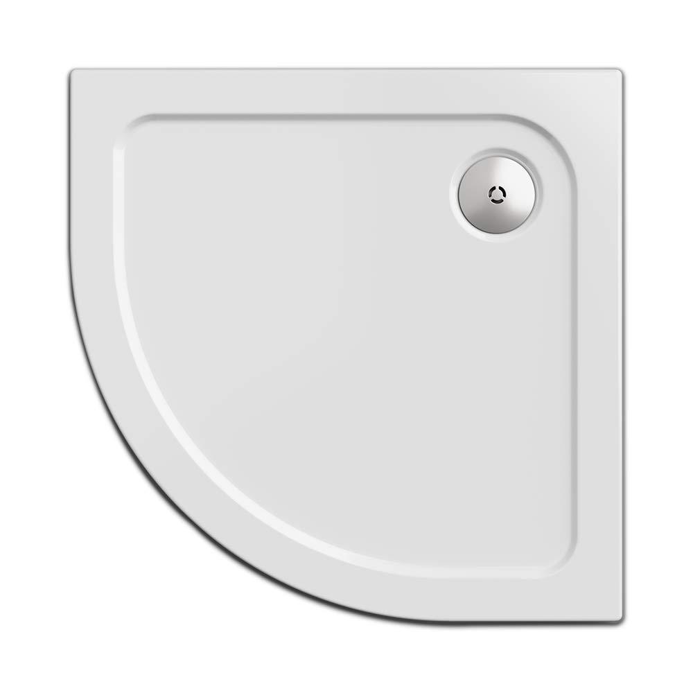 Quart de Cercle 80 x 80 cm SIMPLEX Quadrant Nordona Bac /à Douche Extra Plat /à encastrer: 5,5 cm R/éalisation Robuste et de Grande qualit/é Receveur de Douche