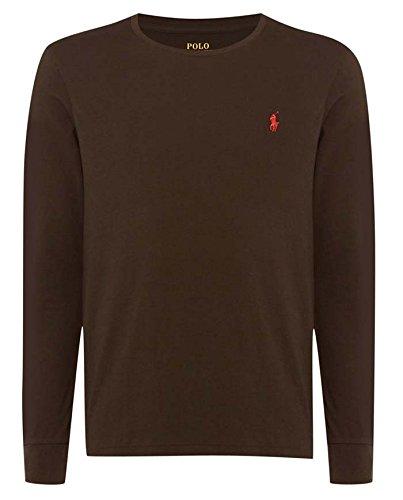 Camiseta de cuello redondo y manga larga para hombre, Ralph Lauren ...