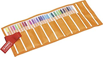 Rotulador punta fina STABILO point 88 - Estuche premium de tela Rollerset con 30 colores: Amazon.es: Oficina y papelería