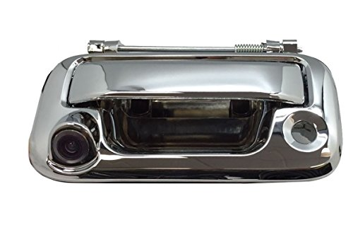PYvideo Backup Camera with Tailgate Handle for Ford F150/F250/F350/F450 for Universal Monitors (RCA) (Color: Chrome)