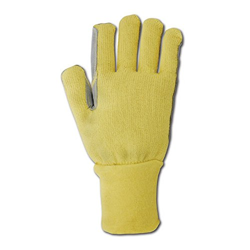 Magid Glove & Safety KV92WLEA-9 Magid Cut Master Leather Palm Kevlar Knit Terrycloth Glove, X-Large, Yellow , 9 (Pack of 12) by Magid Glove & Safety (Image #1)