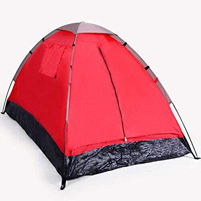 2 Person Red Camping Polyester Outdoor Tent: Garden & Outdoor
