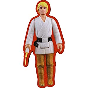 AQUARIUS Star Wars Luke Skywalker Action Figure Funky Chunky Magnet, White/Tan, 3″