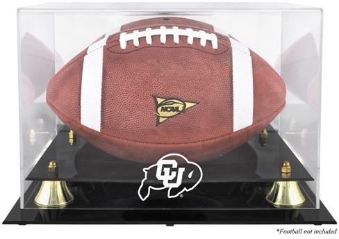 Case Buffalo Display Football (Colorado Buffaloes Golden Classic Football Display Case with Mirror Back - Memories - Mounted Memories Certified)