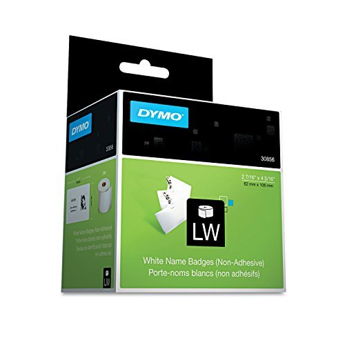 Dymo Label Name Badge (DYMO 30856 Name Badge Insert Labels, 2-7/16 x 4-3/16, White, 250/Box)