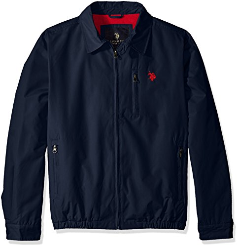 U.S. Polo Assn. Men's Micro Golf Jacket with Polar Fleece Lining, Classic Navy,