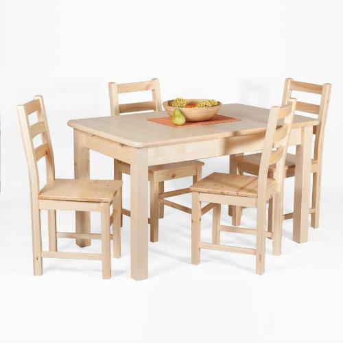 Esstisch Tisch Ausziehbar 13030 X 80 Kiefer Massiv Natur Lackiert