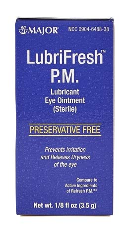 (Major Pharmaceuticals Lubrifresh P.M. Sterile Artificial Tears Ointment, 6 Count)