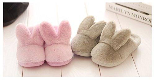 TELLW Cute Dicke Winter Baumwolle Schuhe Männer Weiblich Anti-Skid Zuhause Pink