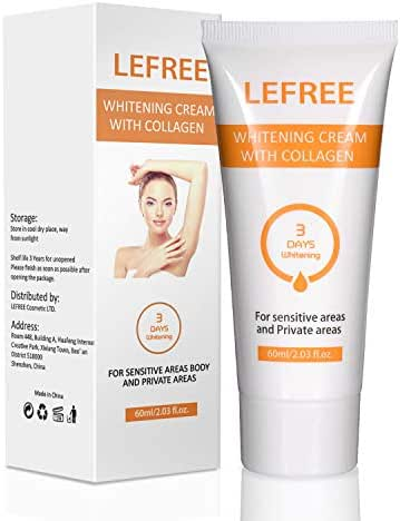 Underarm Whitening Cream, Natural Skin Lightening Cream for Sensitive & Private Areas,Effective for Armpit, Knees, Elbows, Sensitive & Private Areas, Whitens, Nourishes, Repairs & Restores Skin, 60ml